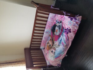GRACO Crib along with mattress and bedding for $250