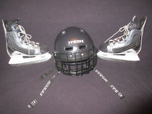 Nike - Youth Hockey Skates & ITECH Helmet