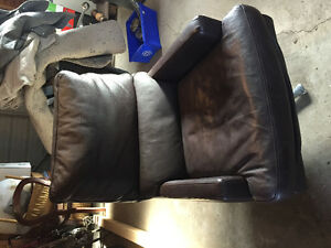 Urban barn modern leather swivel chair