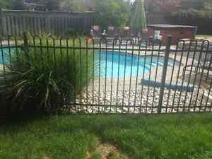45ft ROMA Solid Steel Fence