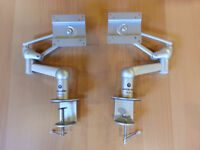 2 PRACTICALLY NEW Vanguard VM-811 LCD Monitor / TV Arm Mounts