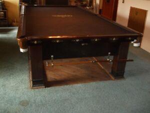 snooker table - Brunswick antique circa 1920