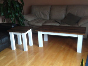 Real wood Coffee table and matching end table