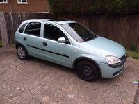 2001 Vauxhall Corsa 1.2 16v 71666 miles