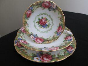 "Vintage Paragon "" Tapestry Rose "" Tea Cup trio set"