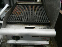 deep fryers, grill and table