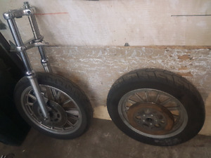 Harley rims and front end