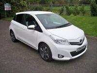 Toyota Yaris 1.3 VVT-I TREND FULL TOYOTA HISTORY, BLUETOOTH & AIR CONDITIONING (white) 2014
