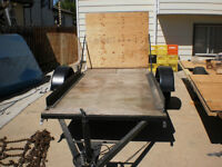 NICE 4.6 FT X 9.6 FT TRAILER WITH FOLD DOWN RAMP