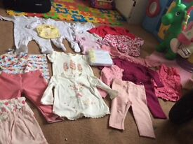 Bundle of 3-6 baby girl clothes