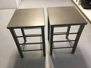 Two Metal Utility Tables