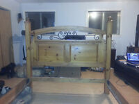 Queen size Bed Frame with matching dresser and 2 night stand