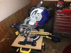 """Mastercraft Dual Bevel Mitre Saw with Lazer & Table 12"""""""