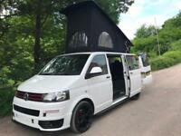 2012 62 VW TRANSPORTER 2.0TDi 102PS LWB T30 CAMPER VAN WHITE ONLY 50K FSH