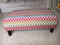 DFS Footstool & matching cushion covers