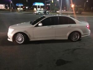 White Mercedes-Benz 2009 C230 4matic Sedan