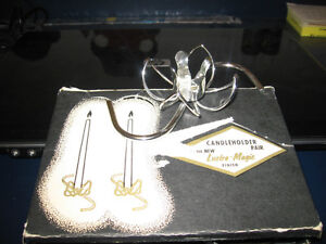 TWO SETS OF S SHAPED CANDLE HOLDERS SILVER/GOLD Kingston Kingston Area image 2