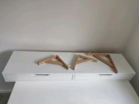 Floating IKEA shelf