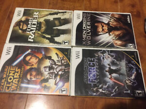 Wii games Star Wars/ x-man/Tomb raider