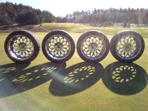 "Set of Forgiato Grano Chrome 22"" Deep Dish with Kumho Tires"