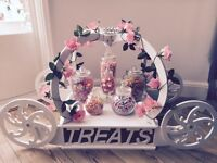 Wedding business for sale- sweet cart- cake stand- sweet jars- cone stand