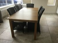 Extending Table and Five Chairs
