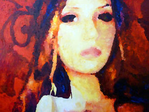 Open Up, Reconsider  Original Impressionist Oil Painting, Female