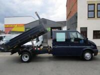 Ford Transit 2.2TDCi T350 Double Cab tipper with aluminum drop sides (43)