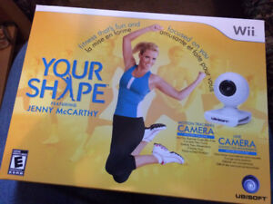NEW Nintendo Wii YOUR SHAPE ft Jenny McCarthy Game with Camera