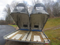 One Double Snowmobile Remeq Toy Carrier Trailer