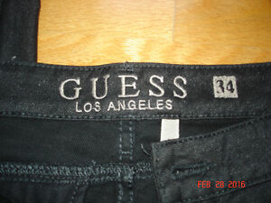GUESS LOS ANGELES BLACK SKINNY JEANS SIZE 34 FOR MEN