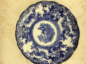 Dessert Plates - Blue and White - 6 available - Price for each