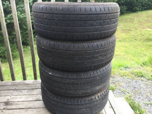 Four 205/55R16 Summer Tires