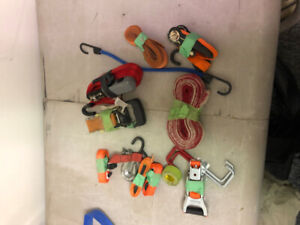 safety harness, fall gear, ropes, lanyards, anchors, beaners,etc
