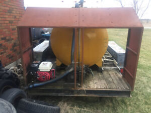 Vac tank on trailer