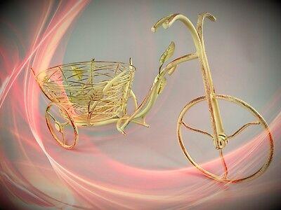 Blumenregal Fahrrad Eisen WEISS Garten Terrasse Dekoration Kompasse Sonnenuhren