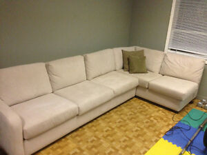 Ultra suede sectional sofa Oakville / Halton Region Toronto (GTA) image 1