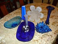 Superbe ensemble d'accessoires/décoration UNIQUES Murano saphire