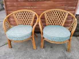 2 no. Wicker chairs