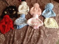 Selection of lovely baby/toddler hats