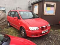 55 plate Hyundai trajet CRDT 2 ltr DIESEL 7 seater no mot hence price