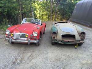 Two 1958 MG MGA's for restoration