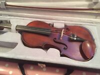 Full size violin French antique with case approx 1900 JTL