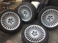 "4 x Genuine BMW 19"" Alloy wheels with tyres"