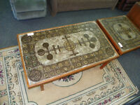 Large Ox-Art '73 Teak and Inset Tile Coffee Table