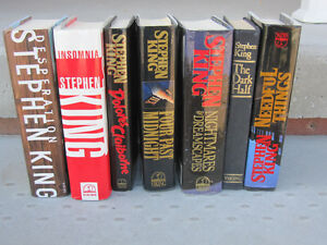Stephen King - Hardbound books and few Paperbacks