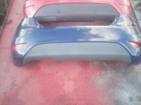 Dark blue ford fiesta rear bumper