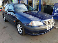 2002 TOYOTA AVENSIS 2.0 VVTI GLS ESTATE MANUAL 124K MOT MAY 2017