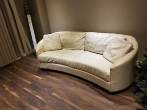 Real Italian Leather Couch- Price Negotiable