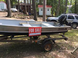 Meyers 12' Aluminum Fishing Boat